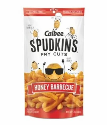 Calbee Snapea Crisp Spudkins Honey BBQ, 5oz (Pack of 6) Perspective: front