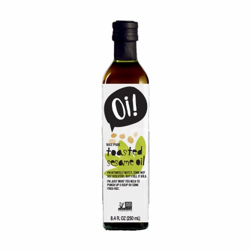 Oi! Toasted Sesame Oil, 8.4 oz [Pack of 6] Perspective: front