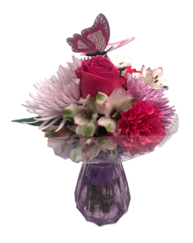 Passion Growers Mother's Day Masonette Arrangement (Approximate Delivery 1-3 Days) Perspective: front