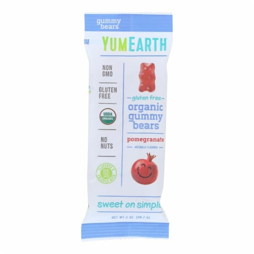 Yumearth Organics Organic Gummy Bears - Pomegranate - Case Of 12 - 2 Oz Perspective: front