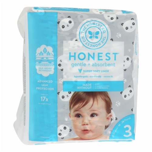 The Honest Company - Diapers Size 3 - Pandas - 27 Count Perspective: front