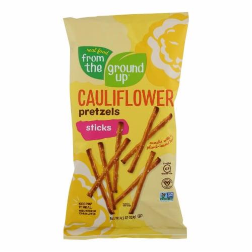 From The Ground Up - Cauliflower Pretzel Sticks - Original - Case of 12 - 4.5 oz. Perspective: front