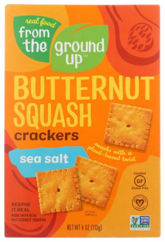 From The Ground Up Sea Salt Butternut Squash Crackers Perspective: front
