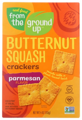 From The Ground Up Parmesan Flavor Butternut Squash Crackers Perspective: front