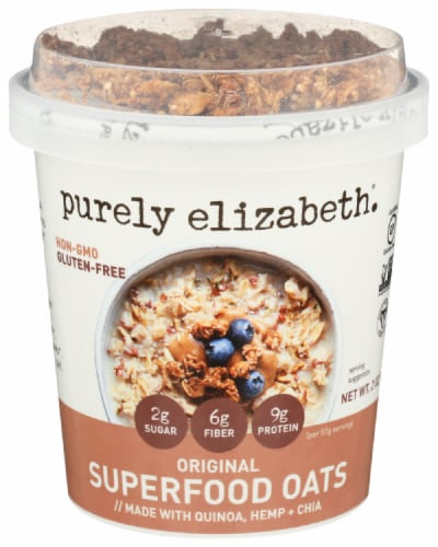 Purely Elizabeth Gluten Free Original Superfoods Oats Perspective: front