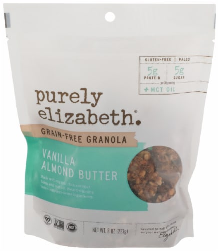 Purely Elizabeth Grain Free Vanilla Almond Butter Granola Perspective: front