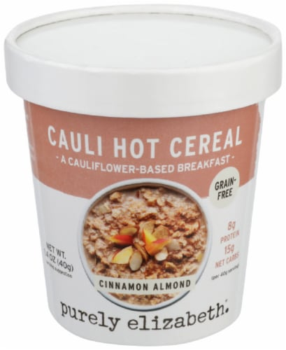 Purely Elizabeth Cinnamon Almond Cauli Hot Cereal Cup Perspective: front