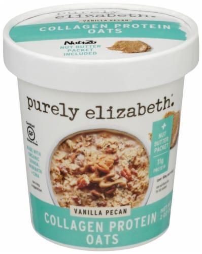 Purely Elizabeth Vanilla Pecan Collagen Oatmeal Cup Perspective: front