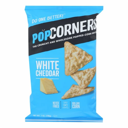Our Little Rebellion Popcorners Chips - Cheddar Feel-Good - Case of 12 - 7 oz Perspective: front