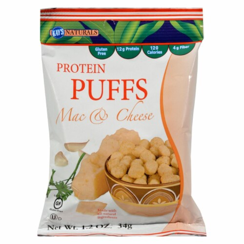 Kay's Naturals  Protein Puffs Gluten Free   Mac and Cheese Perspective: front