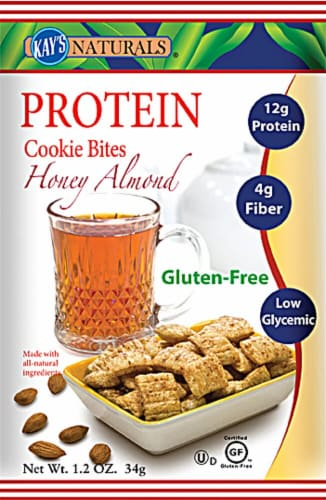 Kay's Naturals  Protein Cookie Bites   Honey Almond Perspective: front