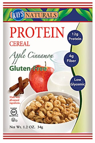 Kay's Naturals  Protein Cereal   Apple Cinnamon Perspective: front
