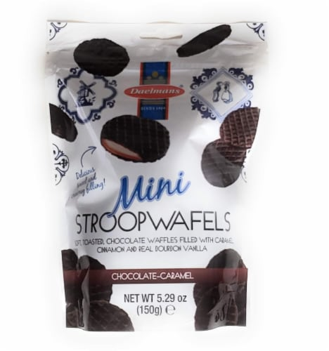Daelmans Mini Stroopwafels Chocolate- Caramel 5.29 OZ (Pack of 10) Perspective: front