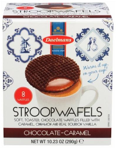 Daelmans StroopWafels Chocolate-Caramel Jumbo Box 10.23 OZ  (Pack of 8) Perspective: front