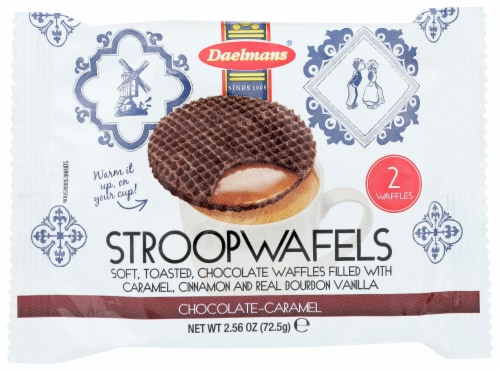 Daelmans StroopWafels Chocolate-Carmel 2 count 2.56 OZ (Pack of 12) Perspective: front