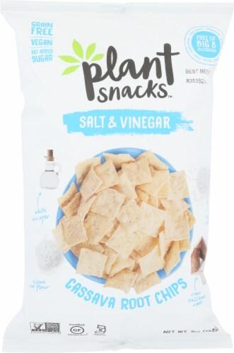 Plant Snacks Salt & Vinegar Cassava Root Chips Grain Free, 5oz (Pack of 12) Perspective: front