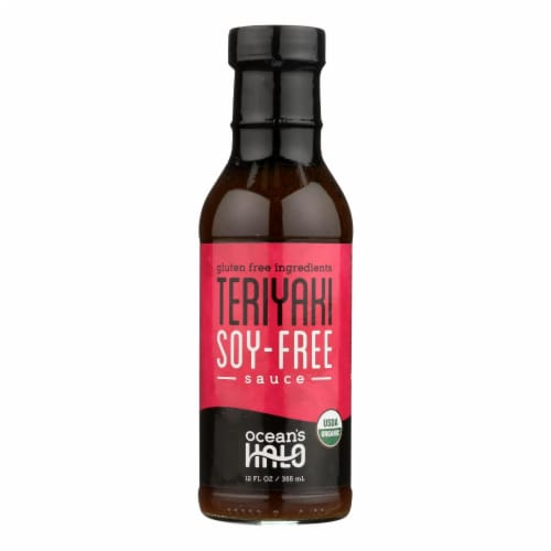 Ocean's Halo Teriyaki Soy-Free Sauce - Case of 6 - 12 FZ Perspective: front