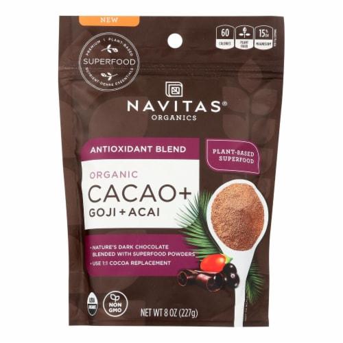 Navitas Organics - Cacao + Organic Antiox Powder - Case of 6 - 8 OZ Perspective: front