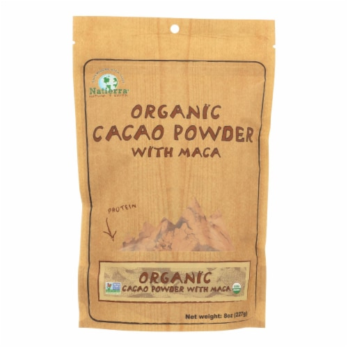 Natierra Organic Cacao Powder with Maca - Case of 6 - 8 oz. Perspective: front