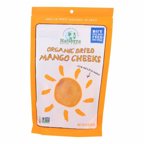 Natierra - Dried Mango Organic Cheeks - Case of 6 - 8 OZ Perspective: front