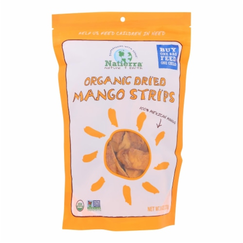 Natierra - Dried Mango Organic Strips - Case of 6 - 8 OZ Perspective: front