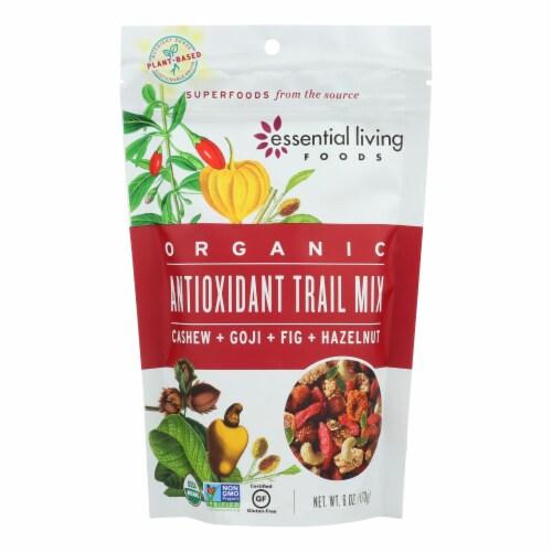 Essential Living Foods Cashew + Goji + Fig + Hazelnut Organic Antioxidant Trail Mix-6Case-6oz Perspective: front