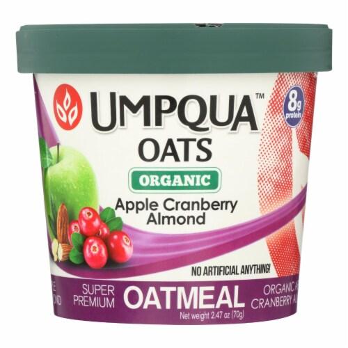 Umpqua Oats Organic Apple Cranberry Almond Oatmeal Perspective: front
