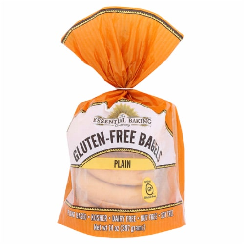The Essential Baking Company Gluten Free Bagels Plain, 14oz(Pack of 6) Perspective: front