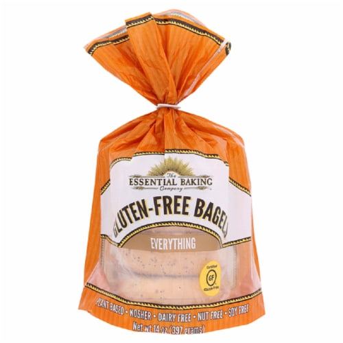 The Essential Baking Company Gluten Free Bagels Everything, 14oz(Pack of 6) Perspective: front