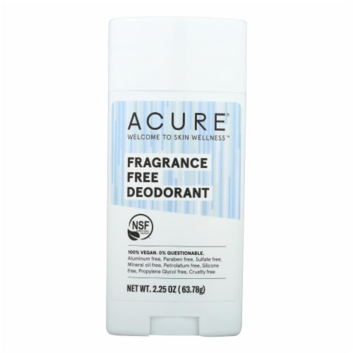 Acure - Deodorant - Fragrance Free - 2.25 oz Perspective: front