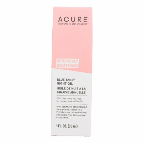 Acure - Oil - Tansy - Soothing Blue - 1 fl oz Perspective: front