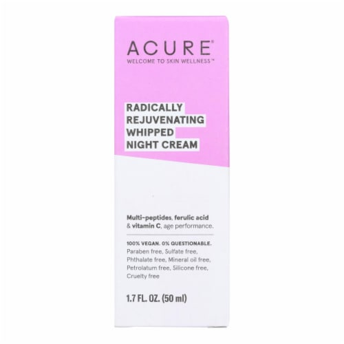 Acure - Whipped Night Cream - Radically Rejuvenating - 1.7 fl oz. Perspective: front
