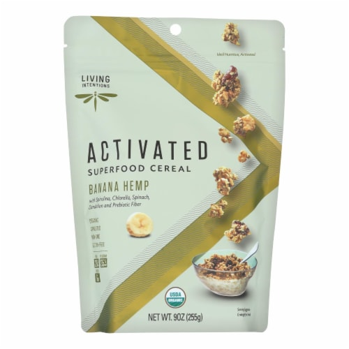 Living Intentions Activated Superfood Cereal  - Case of 6 - 9 OZ Perspective: front