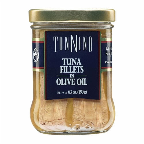 Tonnino Tuna Fillets - Olive Oil - Case of 6 - 6.7 oz. Perspective: front