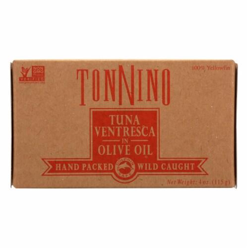 Tonnino Tuna Tuna Ventresca In Olive Oil - Case of 6 - 4 OZ Perspective: front