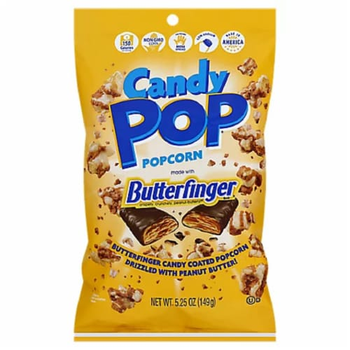 Snack Pop Butterfinger Candy Pop PopCorn, 5.25oz (Pack of 12) Perspective: front
