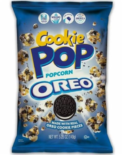 Snack Pop Oreo Cookie Pop PopCorn, 5.25oz (Pack of 12) Perspective: front