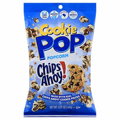 Snack Pop Chips Ahoy Cookie Pop PopCorn, 5.25oz (Pack of 12) Perspective: front