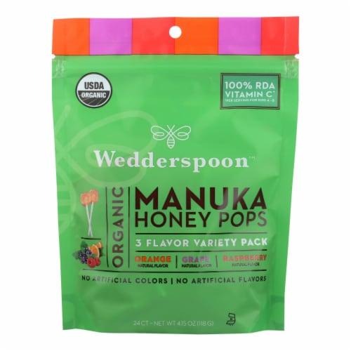 Wedderspoon Organic Makuna Honey Pops  - Case of 6 - 4.15 OZ Perspective: front