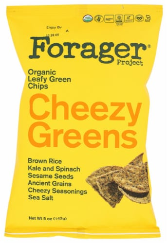 Forager Project Organic Cheezy Greens Vegetable Chips, 5oz (Pack of 8) Perspective: front