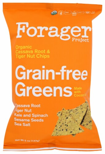 Forager Project Organic  Grain-free Greens Vegetable Chips,  5oz (Pack of 8) Perspective: front