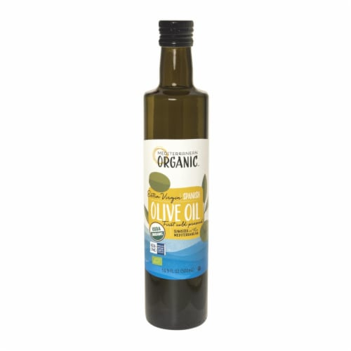 Mediterranean Organic Organic Extra Virgin Olive Oil - Case of 6 - 16.9 FZ Perspective: front