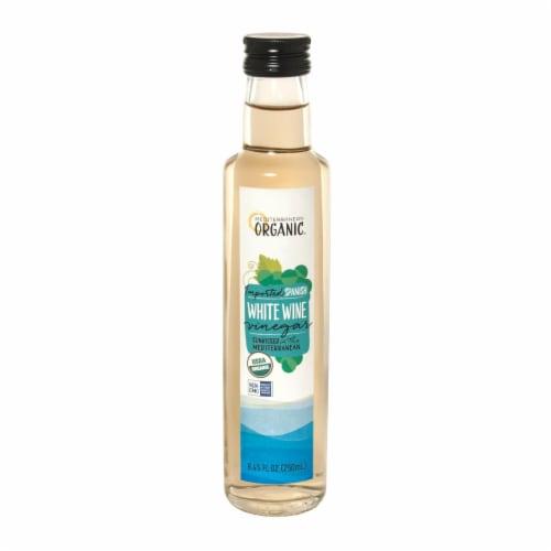 Mediterranean Organic Organic White Wine Vinegar - Case of 6 - 8.45 FZ Perspective: front