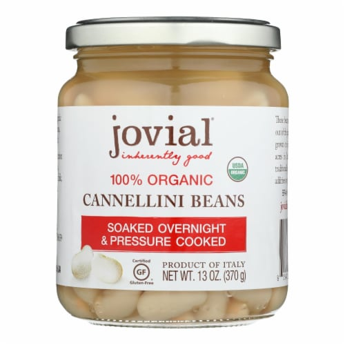 Jovial - 100 Percent Organic Cannellini Beans - Case of 6 - 13 oz. Perspective: front