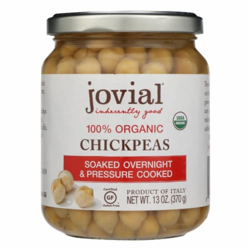 Jovial - Organic Chickpeas - Case of 6 - 13 oz. Perspective: front