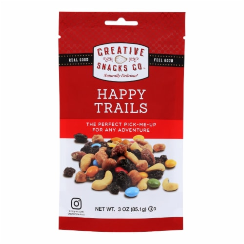Creative Snacks - Bag Happy Trails - Case of 6 - 3 OZ Perspective: front