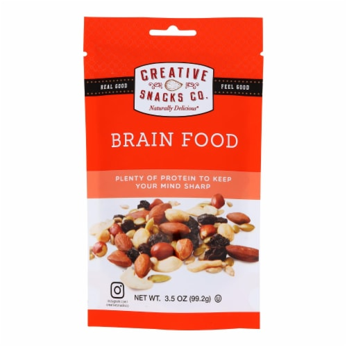 Creative Snacks Co. Brain Food Mixed Nuts  - Case of 6 - 3.5 OZ Perspective: front