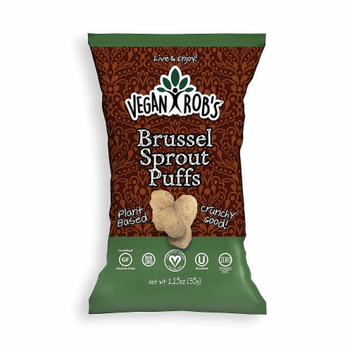 Vegan Rob's Brussel Sprout Puffs Gluten Free , 1.25 oz (Pack of 24) Perspective: front