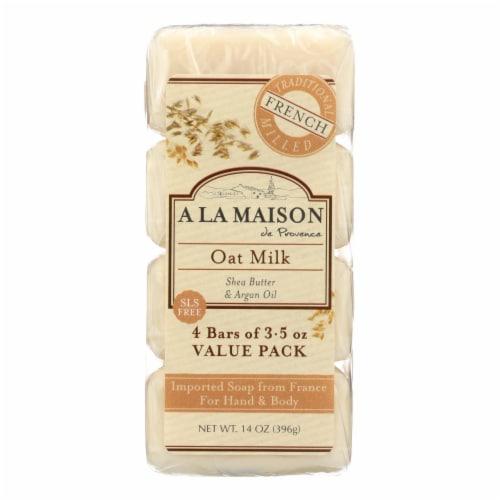 A La Maison - Bar Soap - Oat Milk - Value 4 Pack Perspective: front