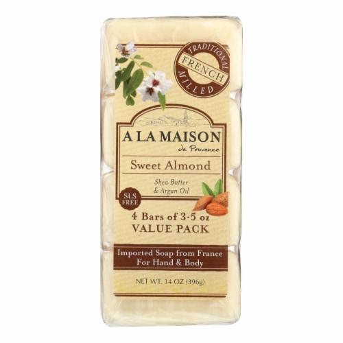 A La Maison - Bar Soap - Sweet Almond - 4/3.5 Oz Perspective: front